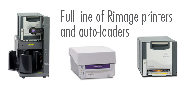 Rimage Printers and Autoloaders